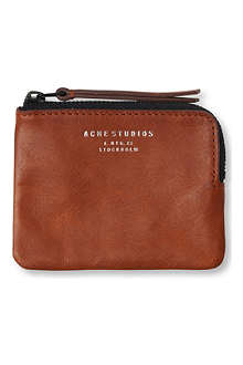ACNE Leather coin pouch