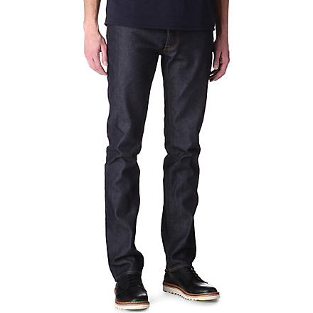 ACNE Roc Raw slim-fit tapered jeans (Blue