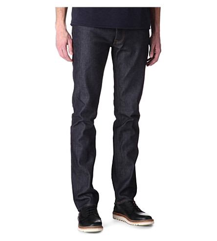 ACNE STUDIOS Roc Raw slim-fit tapered jeans (Blue