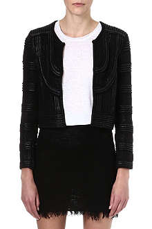 ISABEL MARANT Kazia laquered knit jacket