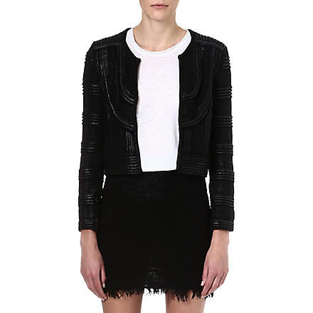ISABEL MARANT Kazia laquered knit jacket (Black