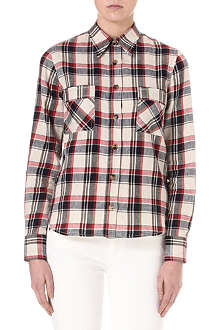 ISABEL MARANT ETOILE Checked linen-blend shirt