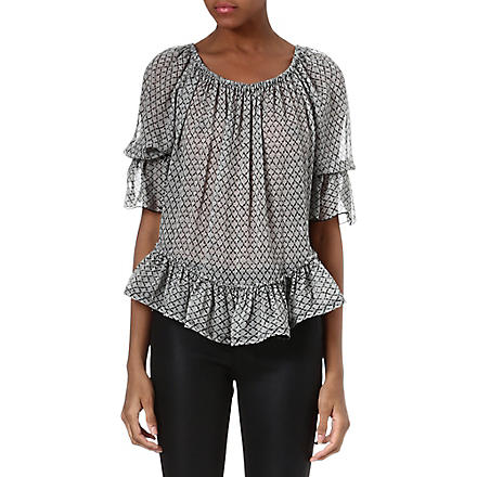 ISABEL MARANT Adriana ruffled silk top (Ecru