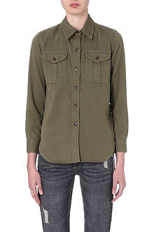 ISABEL MARANT ETOILE Wigston cotton-blend shirt