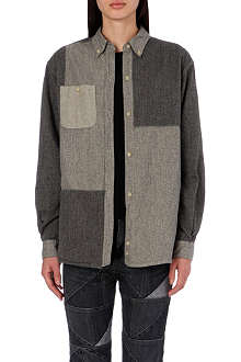 ISABEL MARANT ETOILE Paden patchwork cotton shirt