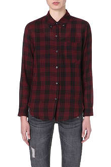 ISABEL MARANT ETOILE Ipa check-detailed cotton shirt