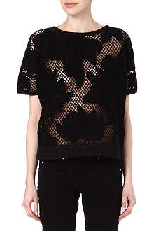 ISABEL MARANT ETOILE Calice floral embroidered top