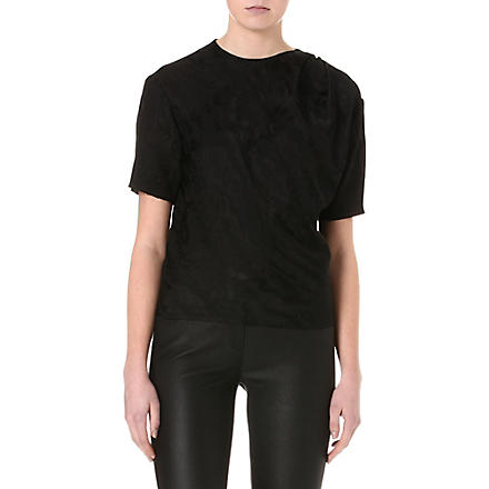 ISABEL MARANT Yoni moiré top (Black