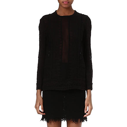 ISABEL MARANT Tess embroidered top (Black