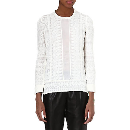 ISABEL MARANT Tess embroidered top (Ecru