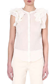 ISABEL MARANT Bertha ruffled top