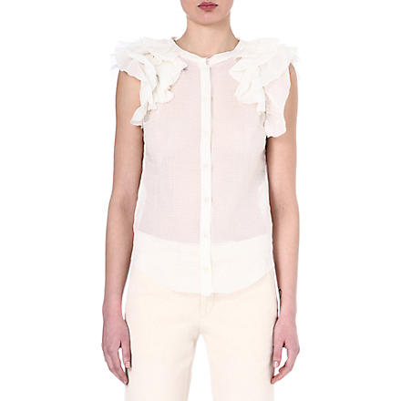 ISABEL MARANT Bertha ruffled top (White