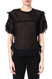 ISABEL MARANT Brett sheer ruffled top