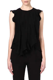 ISABEL MARANT Frill silk top
