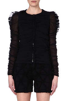 ISABEL MARANT Ruffled cotton jacket