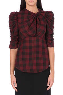 ISABEL MARANT ETOILE Checked cotton top