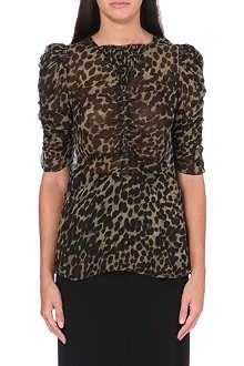 ISABEL MARANT ETOILE Caja leopard-print top