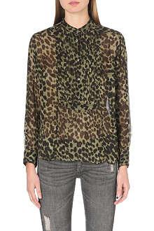 ISABEL MARANT ETOILE Charley leopard-print chiffon shirt