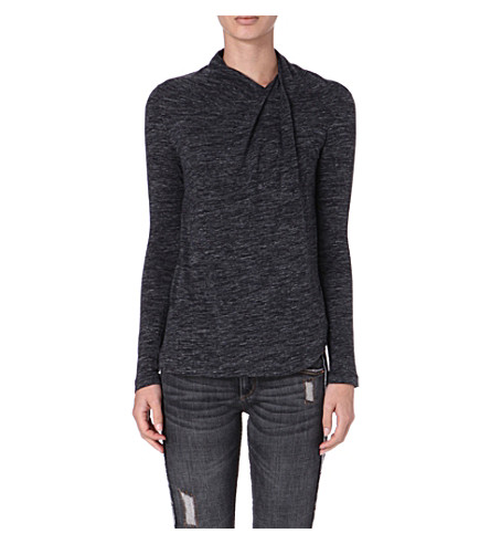 ISABEL MARANT ETOILE Maree long-sleeved jersey top (Anthracite