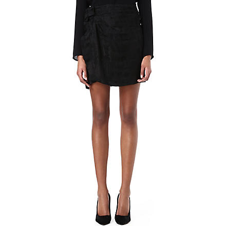 ISABEL MARANT Yukio gathered skirt (Black