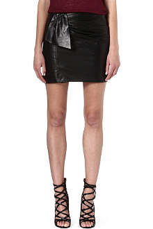ISABEL MARANT Boden leather knot skirt
