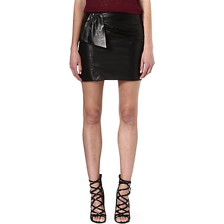 ISABEL MARANT Boden leather knot skirt (Black