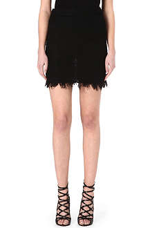 ISABEL MARANT Glens fringed knitted skirt