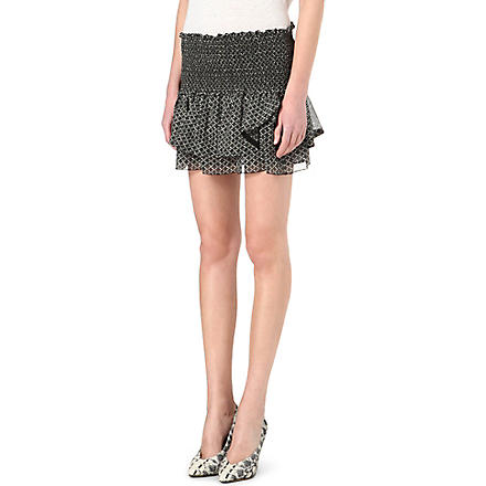 ISABEL MARANT Aura ruffled silk skirt (Black