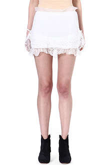 ISABEL MARANT Qodessa lace-detailed skirt