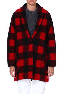 ISABEL MARANT ETOILE Gabrie checked wool-blend coat