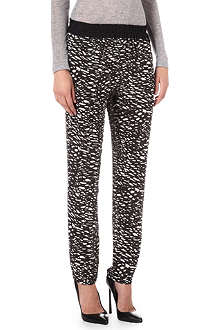 ISABEL MARANT Musk tapered printed trousers