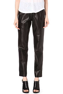 ISABEL MARANT Becka leather elasticated-waist trousers