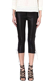ISABEL MARANT Cleavon leather trousers