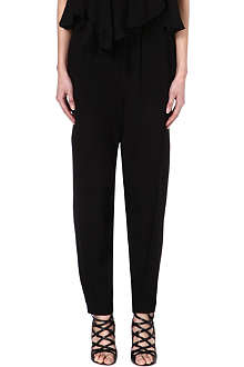 ISABEL MARANT Hany silk-georgette trousers