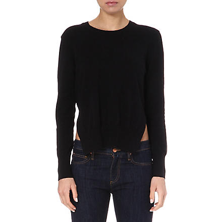ISABEL MARANT ETOILE Orlane crew side-split jumper (Black