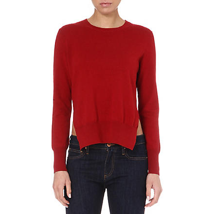 ISABEL MARANT ETOILE Orlane crew side-split jumper (Cherry