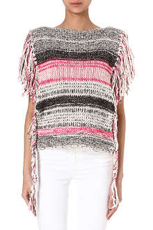 ISABEL MARANT ETOILE Peyton fringed knitted top