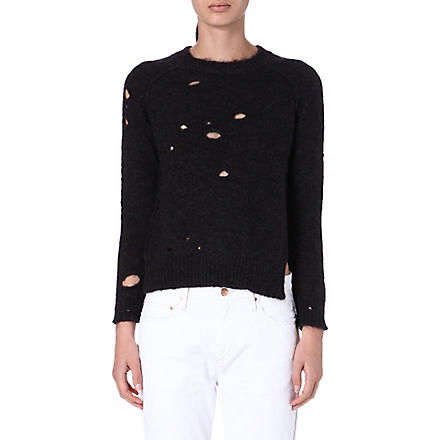 ISABEL MARANT ETOILE Rain distressed jumper (Midnight