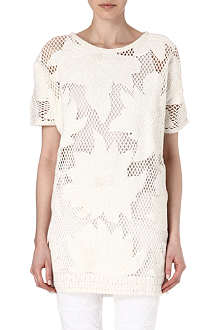 ISABEL MARANT ETOILE Caty floral mesh mini dress