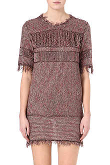 ISABEL MARANT Gilson fringed knitted dress