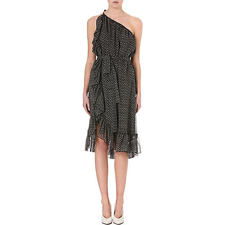 ISABEL MARANT Aiden printed silk dress (Black