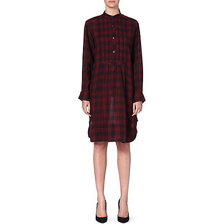 ISABEL MARANT ETOILE Ilaria cotton shirt dress (Burgundy