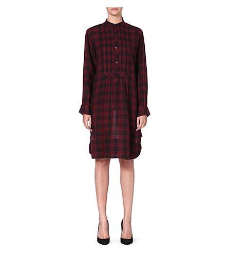 ISABEL MARANT ETOILE Ilaria cotton shirt dress (Burgundy