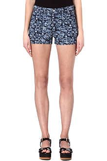 ISABEL MARANT ETOILE Makya embroidered denim shorts
