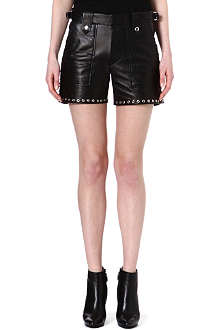 ISABEL MARANT Brodie lace-up leather shorts