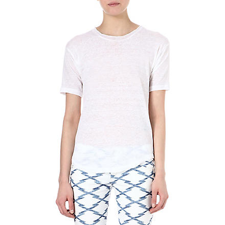 ISABEL MARANT Mary linen t-shirt (White