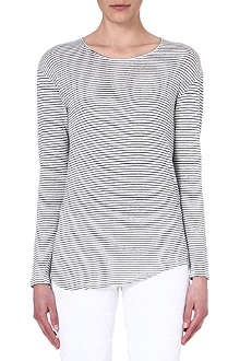 ISABEL MARANT Striped linen top