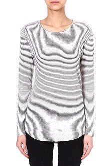 ISABEL MARANT Felix striped linen top