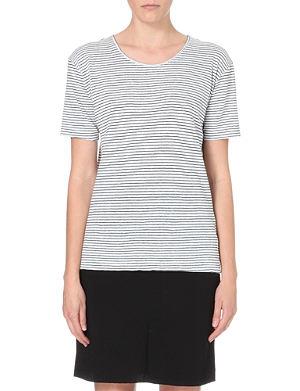 ISABEL MARANT ETOILE Striped linen t-shirt