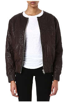 ISABEL MARANT ETOILE Blair quilted leather bomber jacket